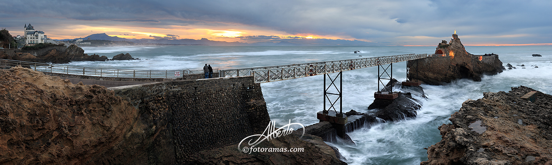 Roca de la Virgen en Biarritz Iparralde