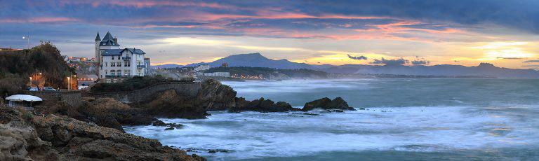 Villa Belza en Biarritz al Atardecer