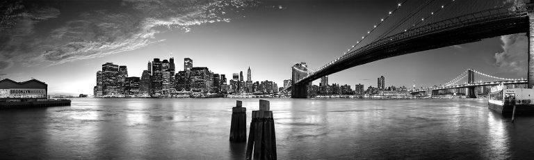 Anochecer en Manhattan en Nueva York