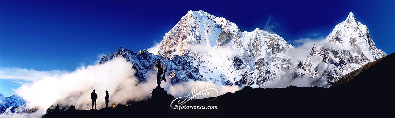Cordillera del Himalaya Nevada en Nepal