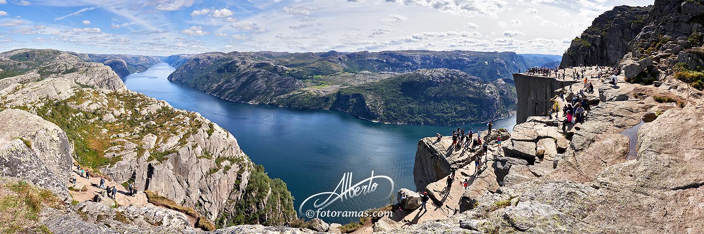 Cima del Pulpito en Noruega