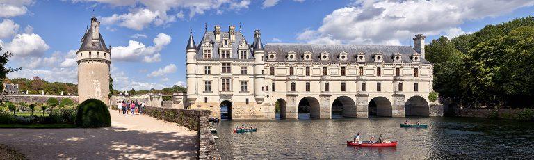 Castillo de Chenonceau en el Valle del Loira en Francia